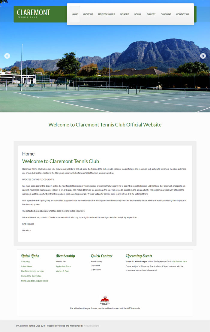 Claremont Tennis Club